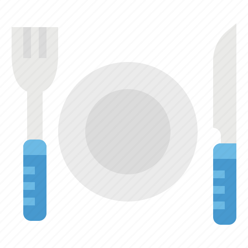 cutlery, eat, food, fork, knife, restaurant icon