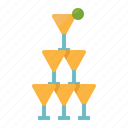 celebration, glasses, party, stemware, tower, wedding icon
