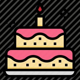 bakery, birthday, cake, celebration, dessert, party icon