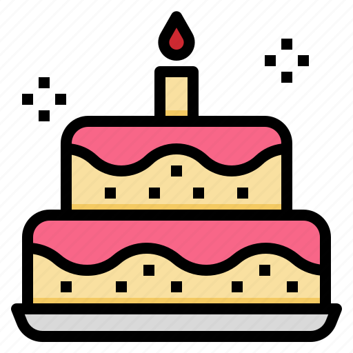 bakery, birthday, cake, celebration, dessert, party icon