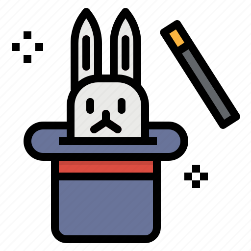 Entertainment, hat, magic, magician, rabbit, trick icon - Download on Iconfinder