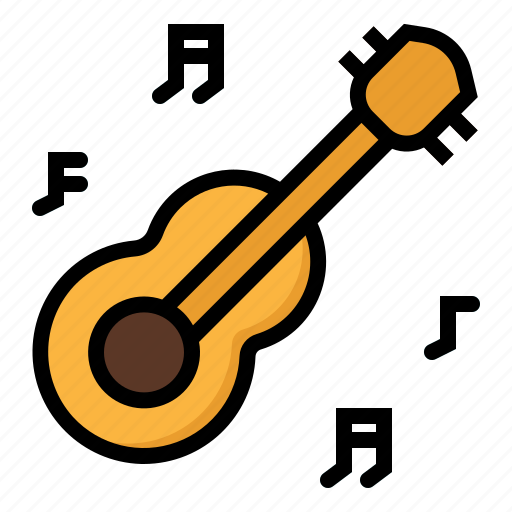 acoustic, guitar, instrument, music, musical, orchestra, string icon