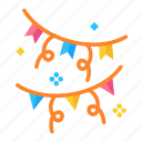 celebration, event, garlands, happy, party icon