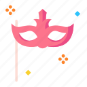 celebration, event, happy, mask, party icon