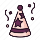 celebration, event, happy, hat, party icon