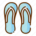 flip, flops, holiday, summer, tourism, vacation icon