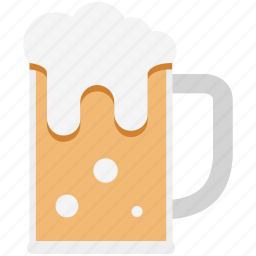 ale, beer, beer mug, chilled beer, drink icon