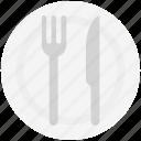 fork, plate, utensil, spoon, flatware, knife