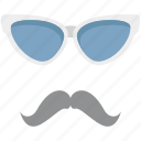 costume, glasses, hipster mask, moustache, party props icon