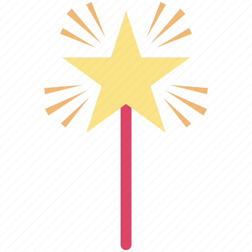 fairy wand, magic wand, magical stick, magical wand, wizard wand icon