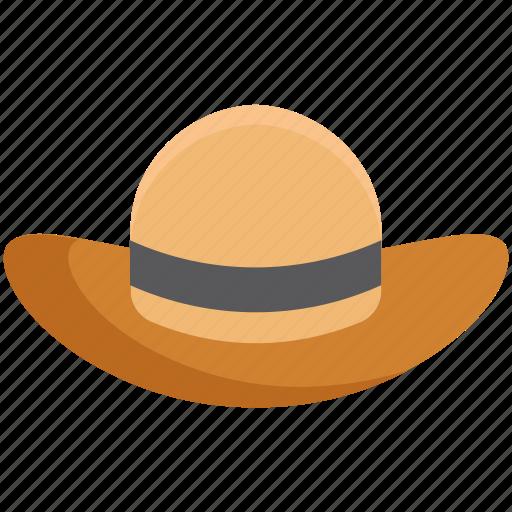 beach hat, fedora hat, floppy hat, hat, summer hat icon
