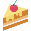 bakery food, cake piece, dessert, frozen desser, sweet food icon