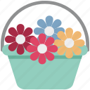 bunch of flower, floral decoration, flower basket, flower bouquet, flowers icon