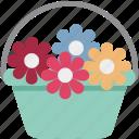 bunch of flower, floral decoration, flower basket, flower bouquet, flowers icon