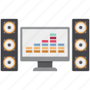 music drums, music instrument, music system, sound system, tamburo icon