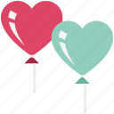 heart, heart balloon, like, love, romance, romantic, valentine icon