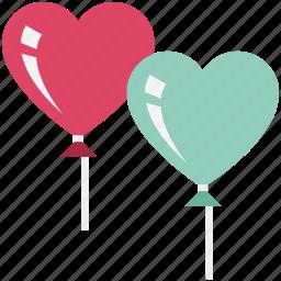 heart, heart balloon, like, love, romance, romantic, valentine icon