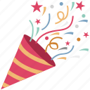 carnival, celebration, firework, firework cone, new year icon