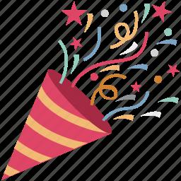 carnival, celebration, firework, firework cone, new year icon