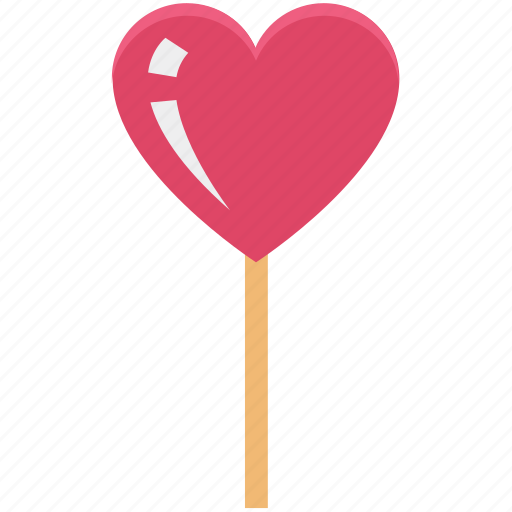 confectionery, heart, heart lollipop, lolly, sweet snack icon