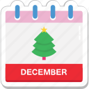 calendar, date, day, december, month icon
