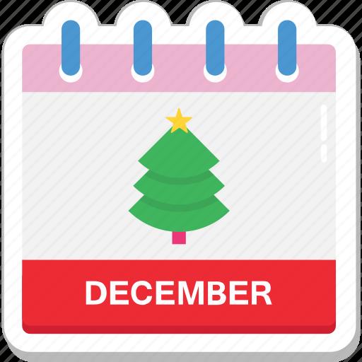 calendar, date, day, december, month icon