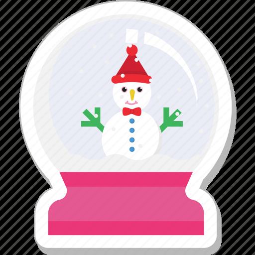 christmas globe, snow dome, snow globe, snowstorm, waterglobe icon
