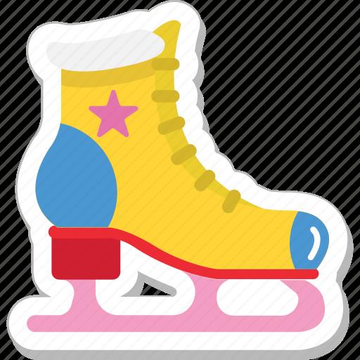 ice skates, skate boots, skating, sports, winter icon