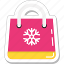 christmas shopping, shopper bag, shopping, shopping bag, tote bag icon