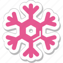 ice flake, snow, snow falling, snowflake, winter icon