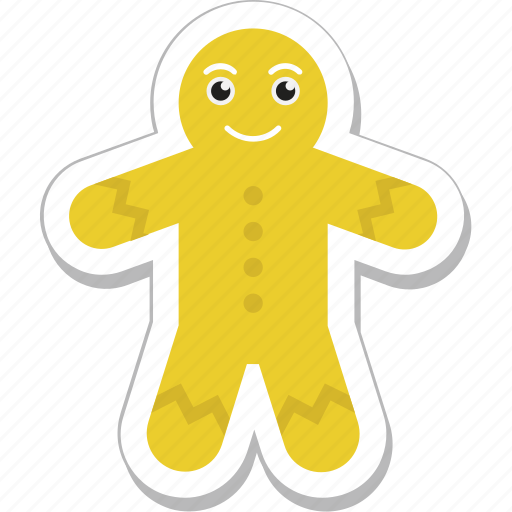 bakery, cookie, food, ginger man, gingerbread icon