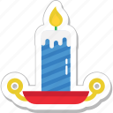 burning, candle, decoration, flame, lamp icon