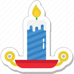 burning, candle, decoration, flame, lamp icon
