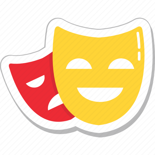 carnival, costume, face mask, party mask, theater mask icon