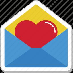 envelope, greetings, letter, love letter, valentine icon