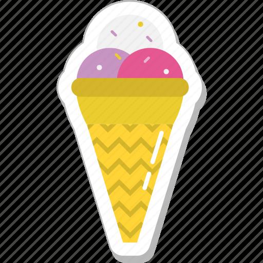 cone, ice cone, ice cream, snow cone, sweet icon