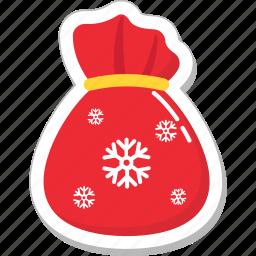 bag, gifts sack, pouch, sack, santa sack icon
