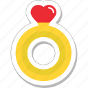 gem, heart, jewel, ring, wedding ring icon