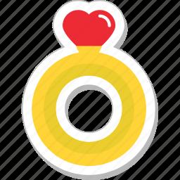 gem, heart, jewel, ring, wedding ring icon