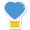 air balloon, heart balloon, hot air balloon, skydiving, travel icon