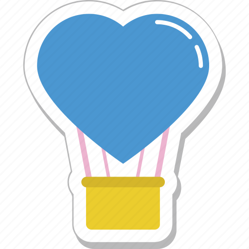 air balloon, heart balloon, hot air balloon, skydiving, travel icon