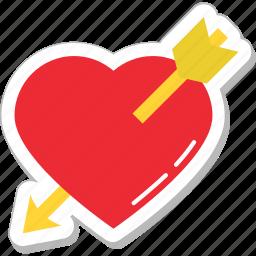 arrow, broken heart, heart, heartbreak, hurt icon
