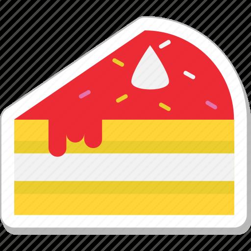 Bakery, cake piece, dessert, food, sweet icon - Download on Iconfinder