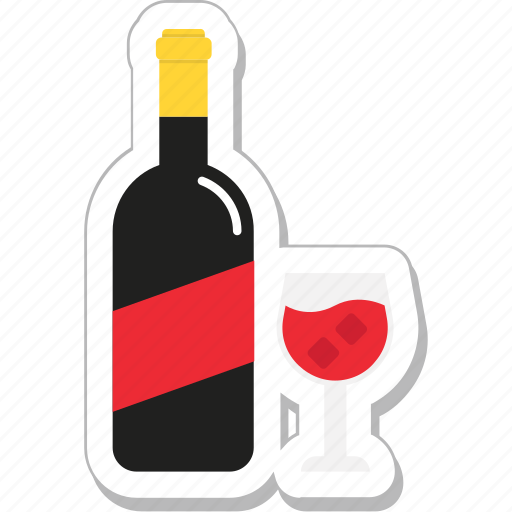 alcohol, bottle, champagne, glass, wine icon