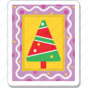 christmas photo, fir tree, frame, photo, pine tree icon