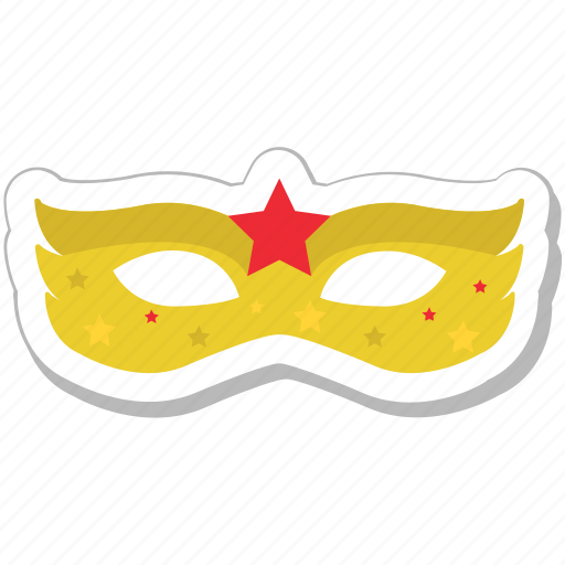 carnival mask, costume, fantasy, party mask, theater mask icon