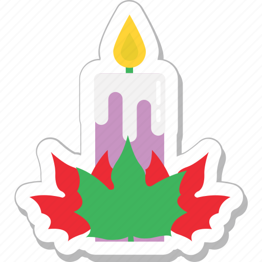candle, christmas, mistletoe, ornaments, xmas icon