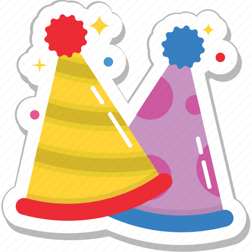birthday, birthday cap, cone hat, party cap, party hat icon