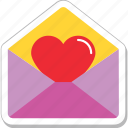 communication, greeting card, love, love letter, love message icon