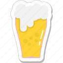 beer glass, beer pint, beer stein, beer tankard, pint glass icon